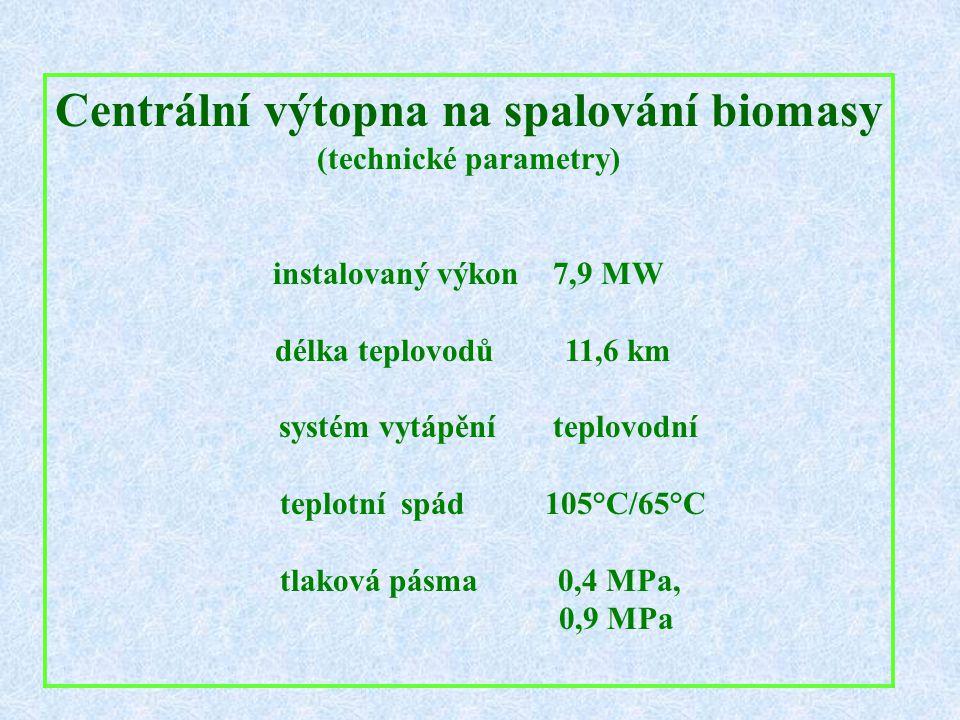 Centrální výtopna na spalování biomasy