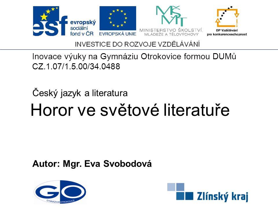 Horor ve světové literatuře