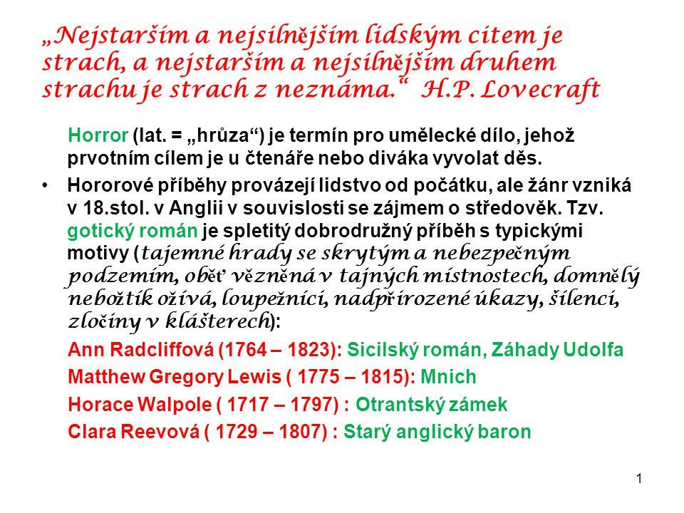 """""""Nejstarším a nejsilnějším lidským citem je strach, a nejstarším a nejsilnějším druhem strachu je strach z neznáma. H.P. Lovecraft"""