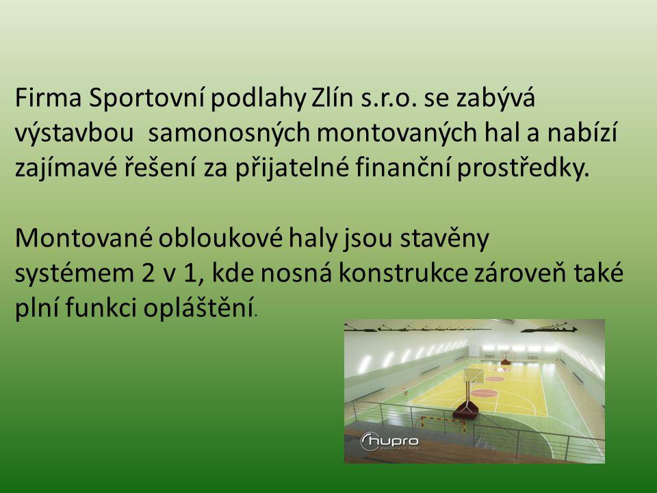 Firma Sportovní podlahy Zlín s. r. o