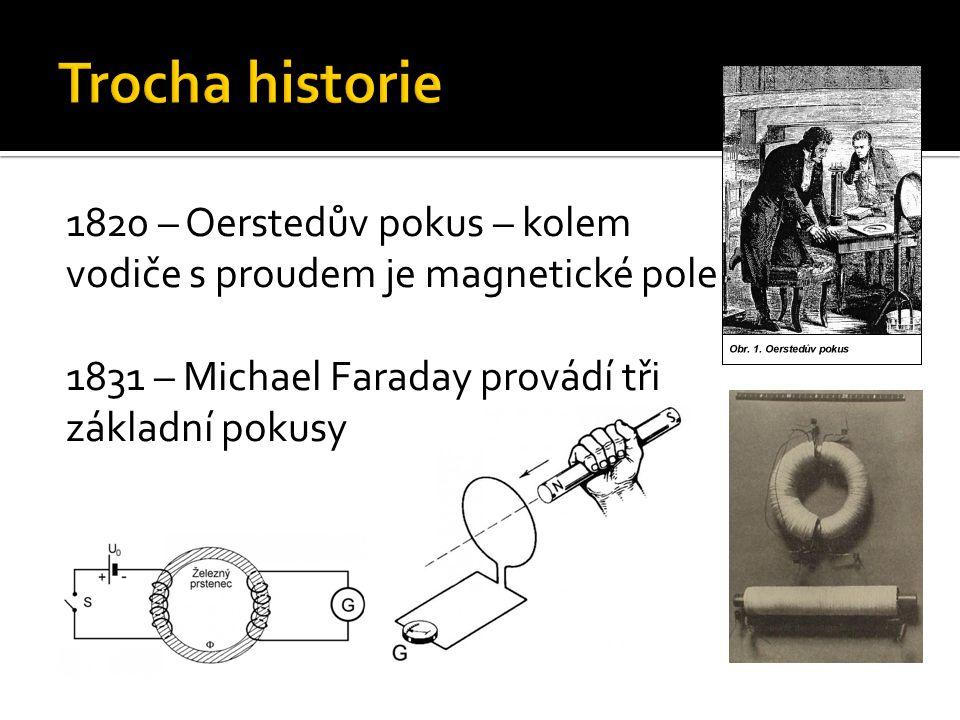 Trocha historie 1820 – Oerstedův pokus – kolem