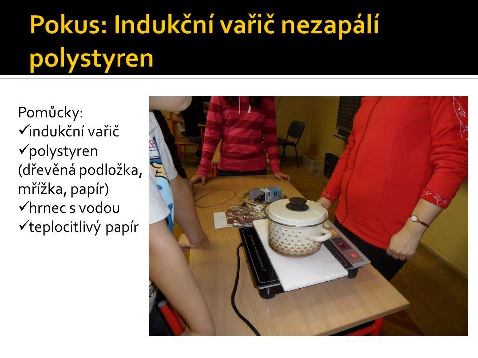 Pokus: Indukční vařič nezapálí polystyren