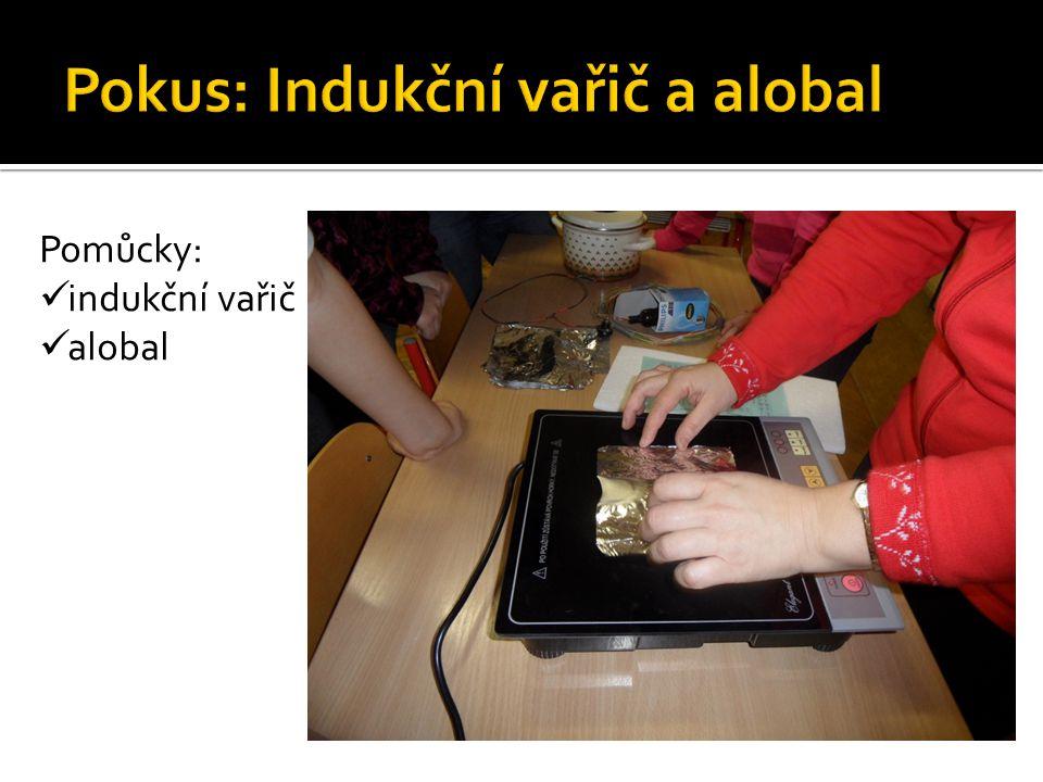 Pokus: Indukční vařič a alobal