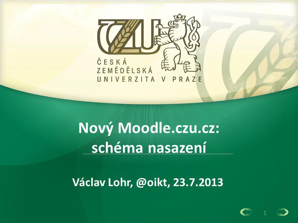Nový Moodle.czu.cz: schéma nasazení