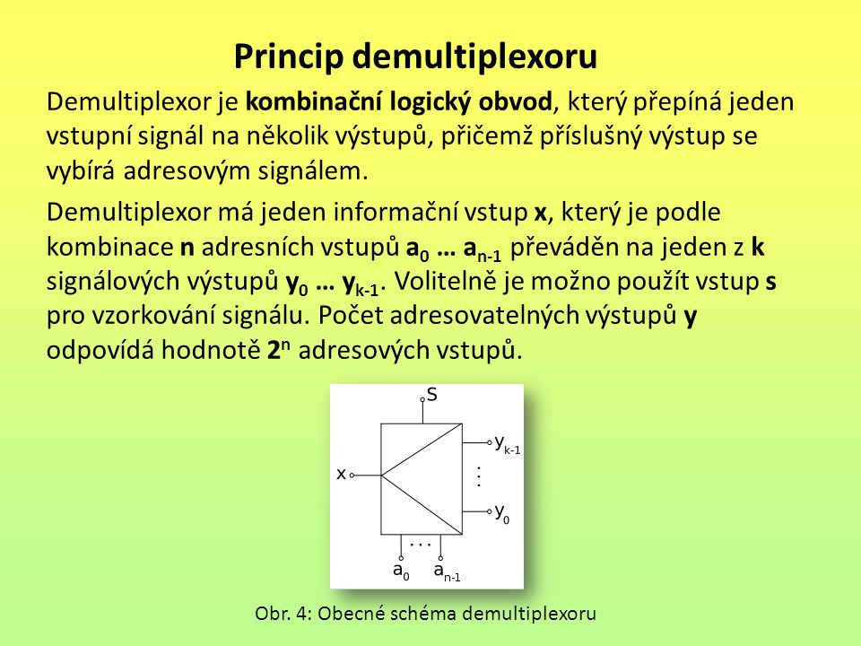 Princip demultiplexoru