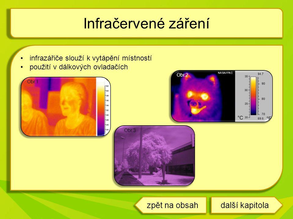 Infračervené záření zpět na obsah další kapitola