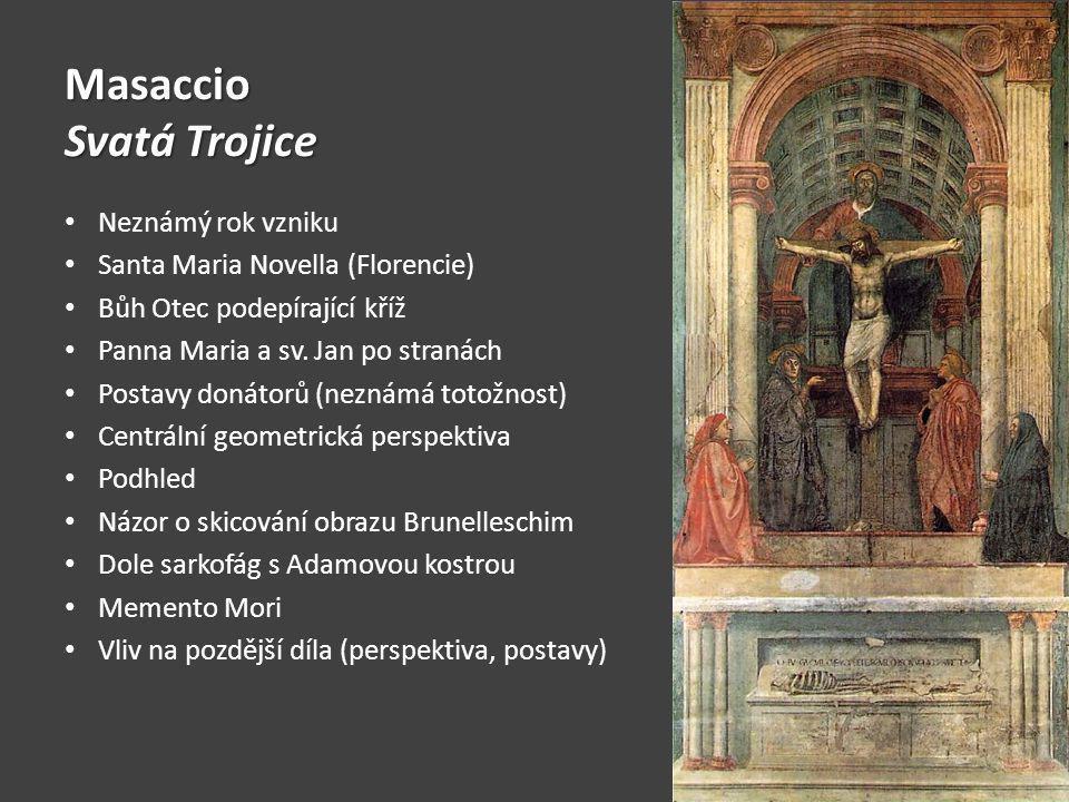 Masaccio Svatá Trojice