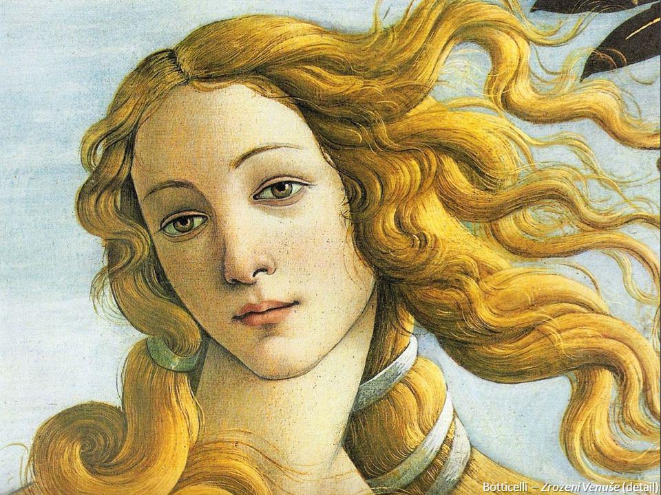 Botticelli – Zrození Venuše (detail)