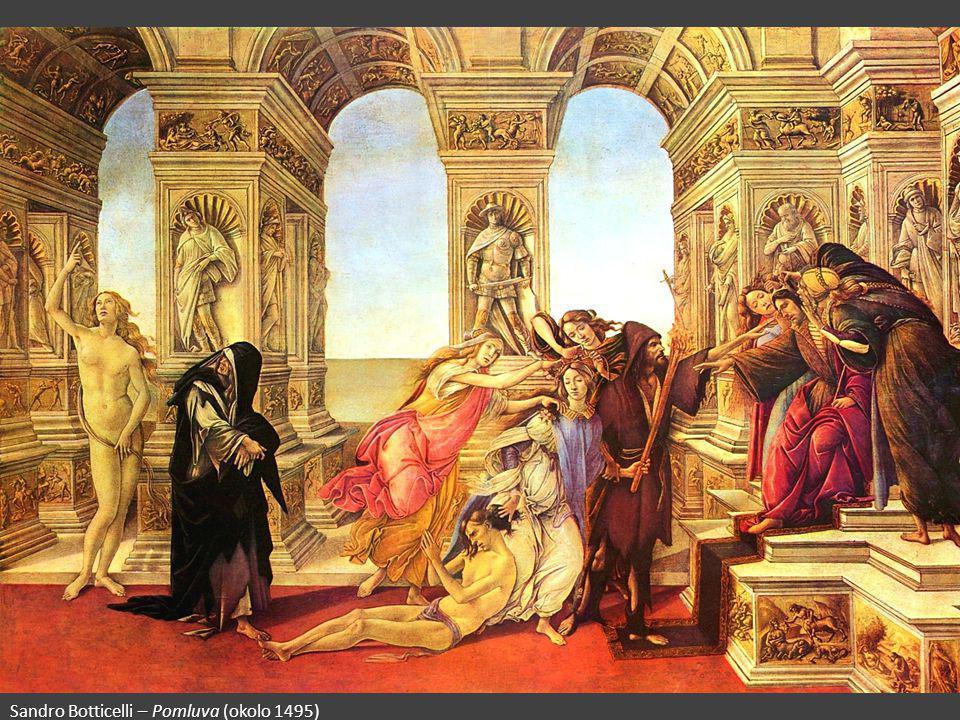 Sandro Botticelli – Pomluva (okolo 1495)