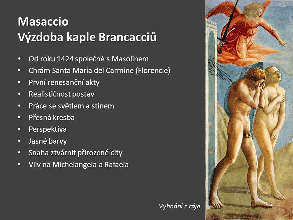 Masaccio Výzdoba kaple Brancacciů