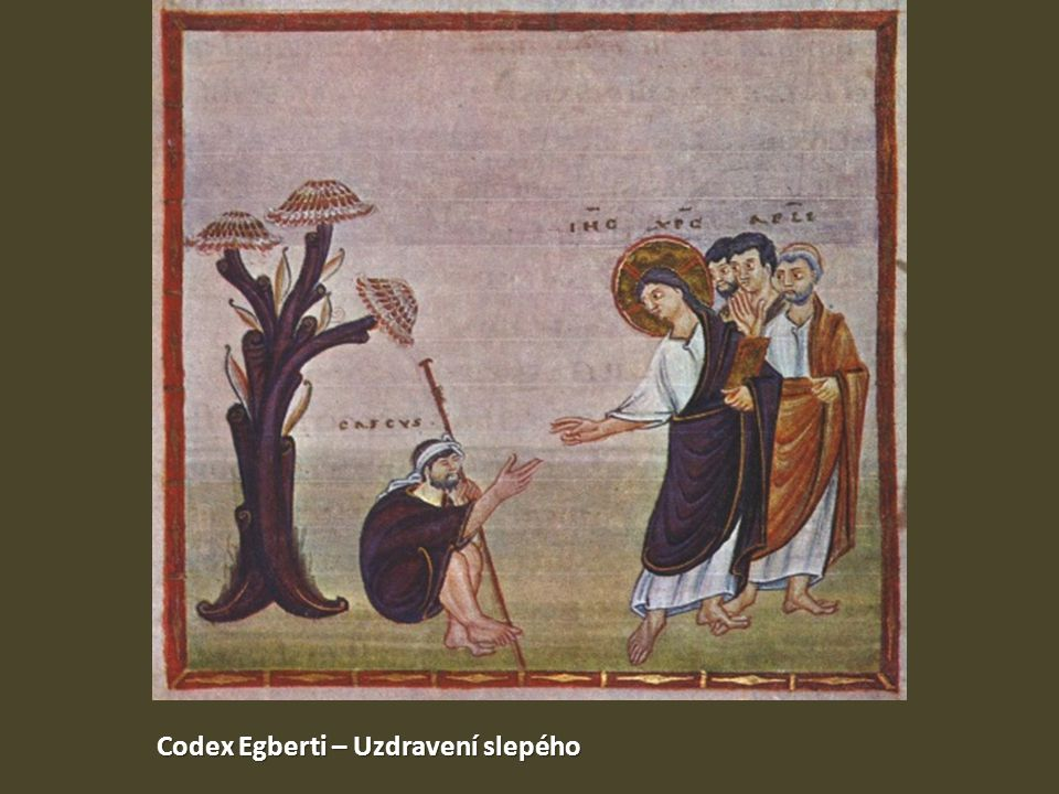 Codex Egberti – Uzdravení slepého
