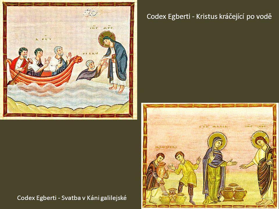 Codex Egberti - Kristus kráčející po vodě