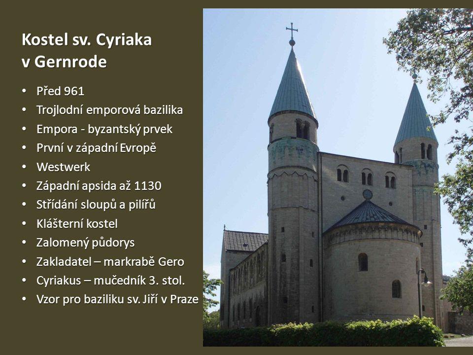 Kostel sv. Cyriaka v Gernrode