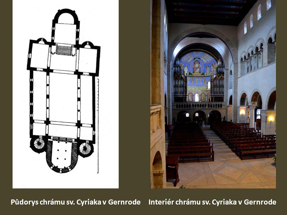 Půdorys chrámu sv. Cyriaka v Gernrode