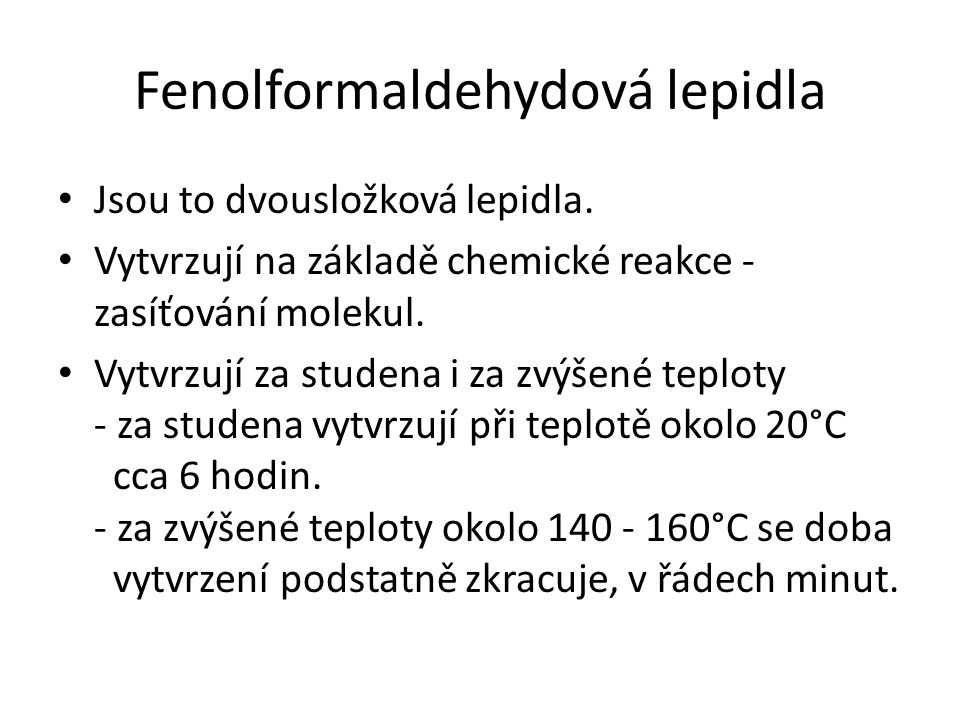 Fenolformaldehydová lepidla