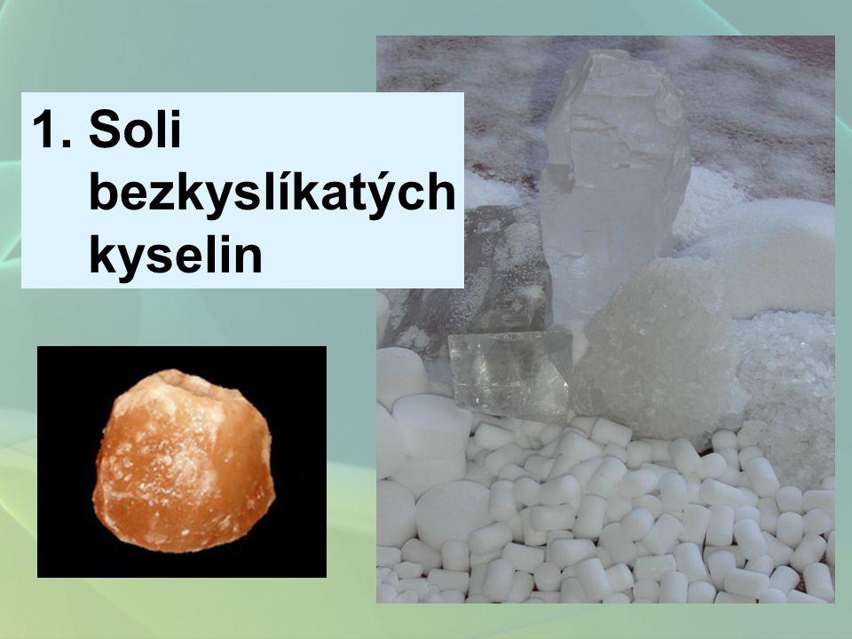 Soli bezkyslíkatých kyselin