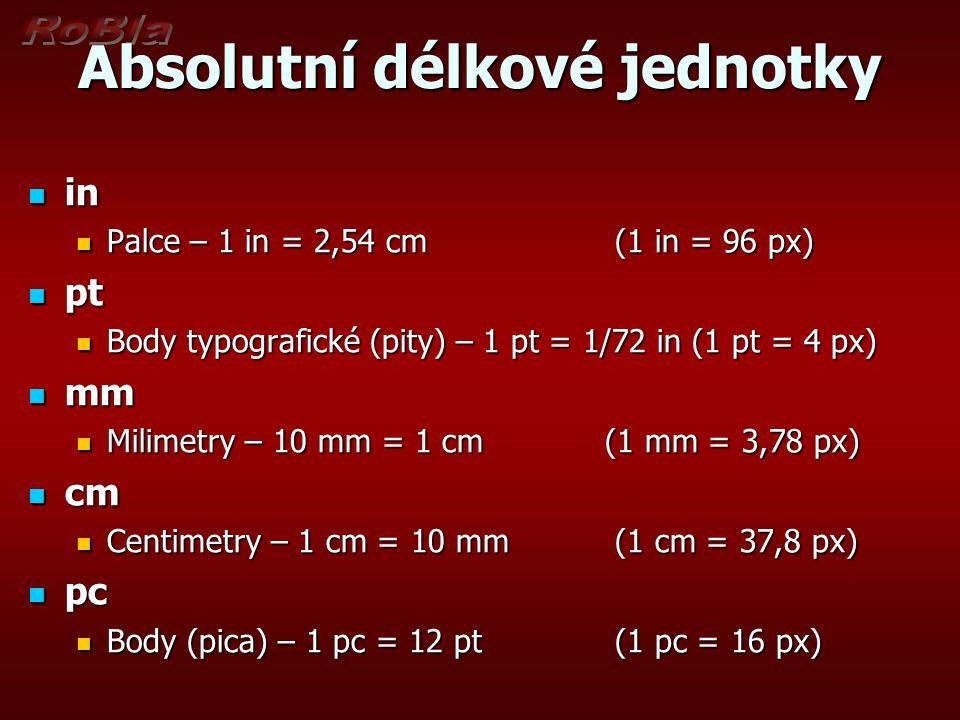Absolutní délkové jednotky