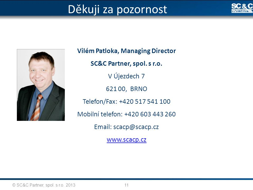 Vilém Patloka, Managing Director