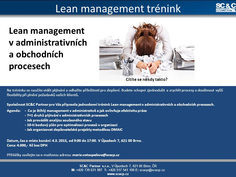 Lean management trénink