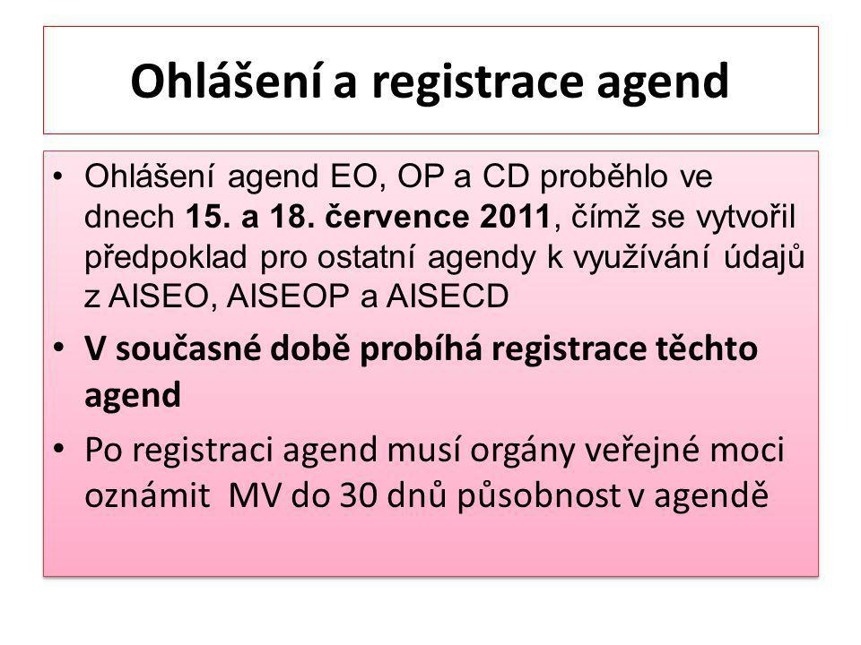 Ohlášení a registrace agend