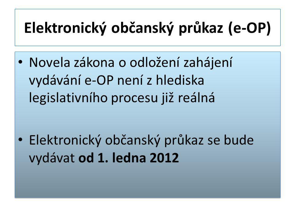 Elektronický občanský průkaz (e-OP)