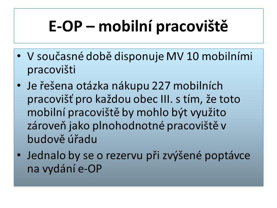 E-OP – mobilní pracoviště