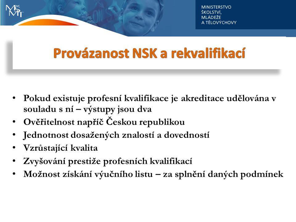 Provázanost NSK a rekvalifikací