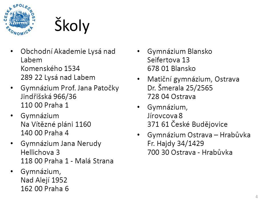 Školy Obchodní Akademie Lysá nad Labem Komenského 1534 289 22 Lysá nad Labem. Gymnázium Blansko Seifertova 13 678 01 Blansko.