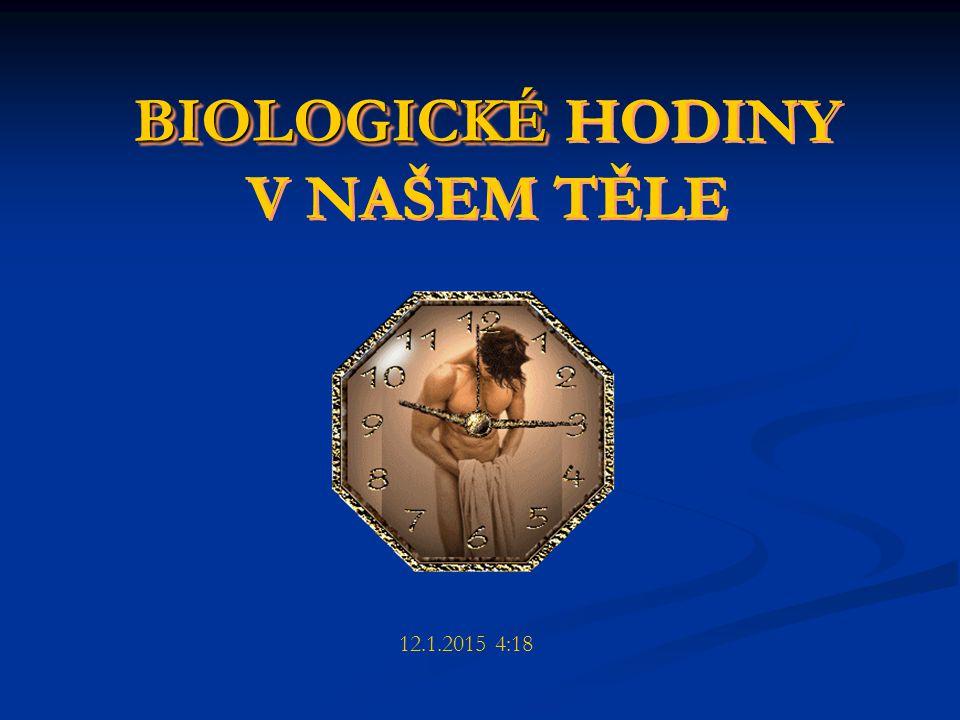 BIOLOGICKÉ HODINY V NAŠEM TĚLE