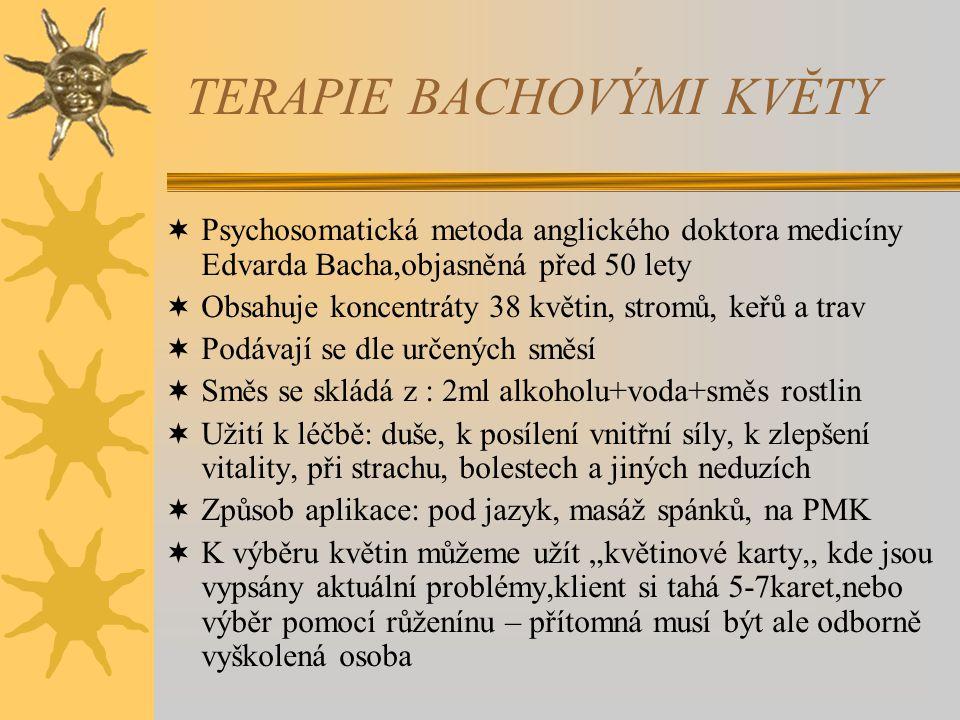 TERAPIE BACHOVÝMI KVĔTY