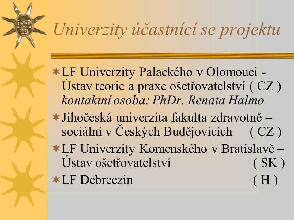 Univerzity účastnící se projektu