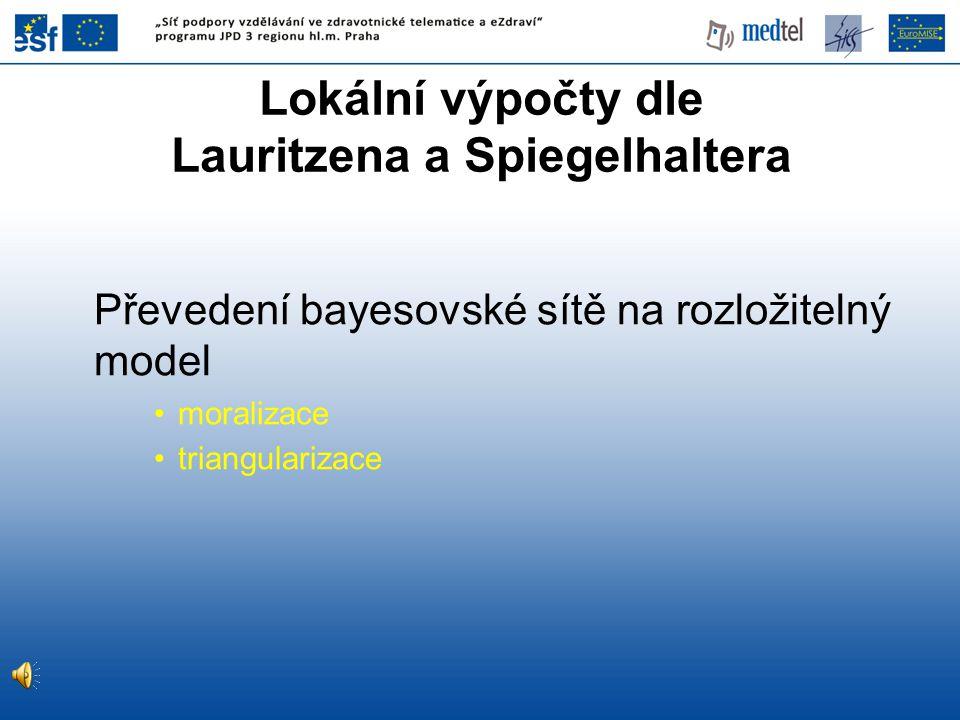 Lokální výpočty dle Lauritzena a Spiegelhaltera