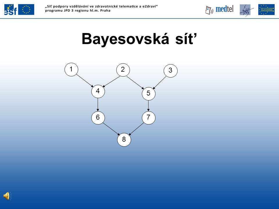 Bayesovská sít' 1 2 3 4 5 6 7 8