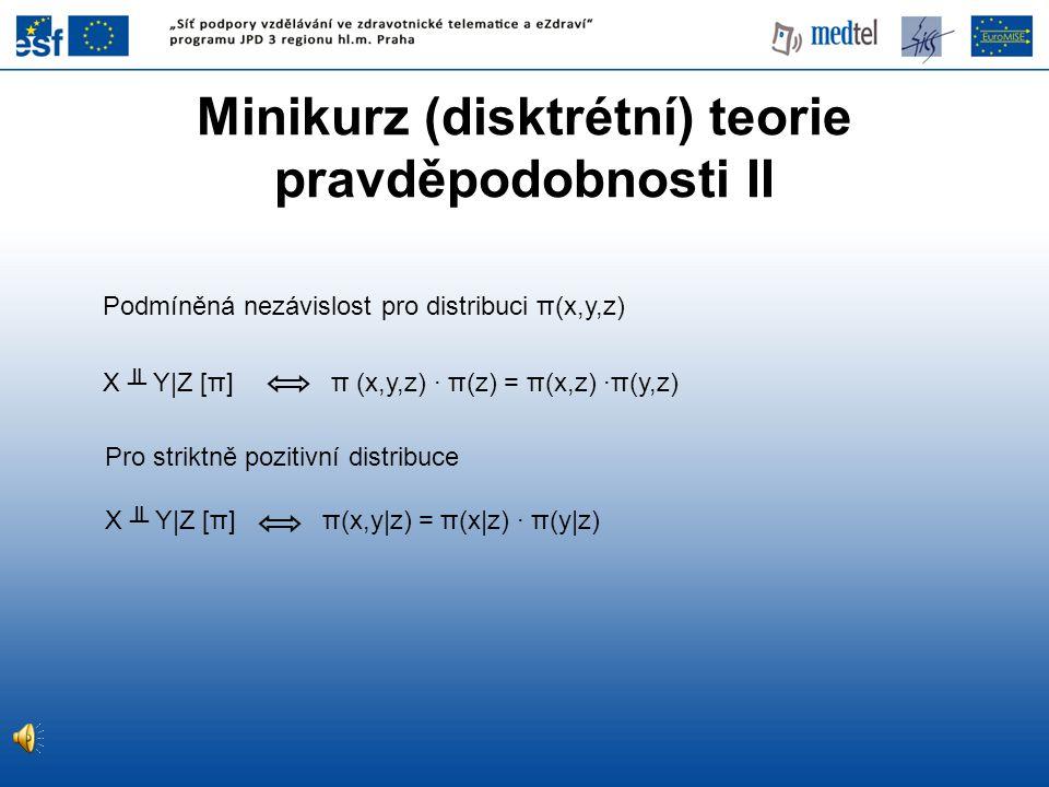 Minikurz (disktrétní) teorie pravděpodobnosti II