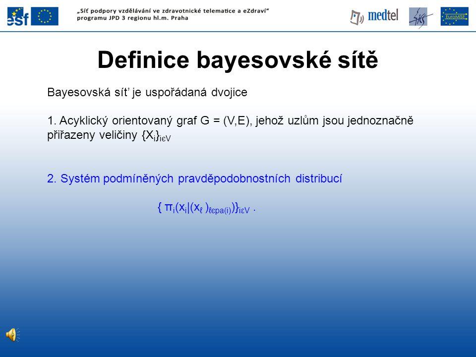 Definice bayesovské sítě