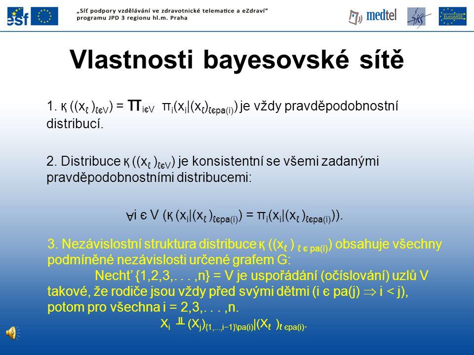 Vlastnosti bayesovské sítě