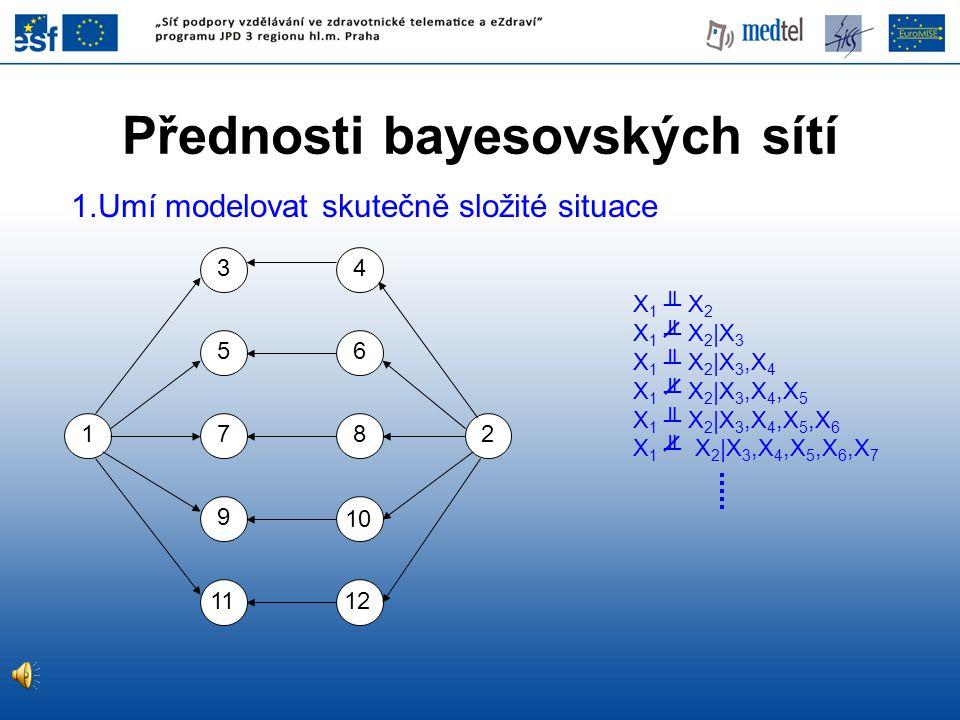 Přednosti bayesovských sítí