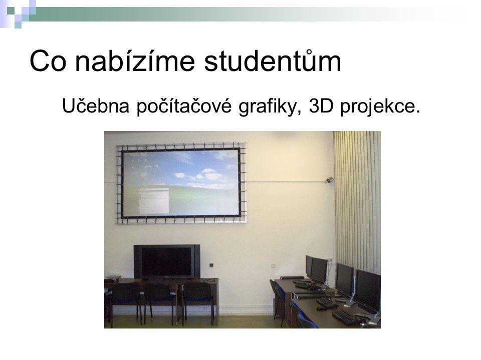 Učebna počítačové grafiky, 3D projekce.