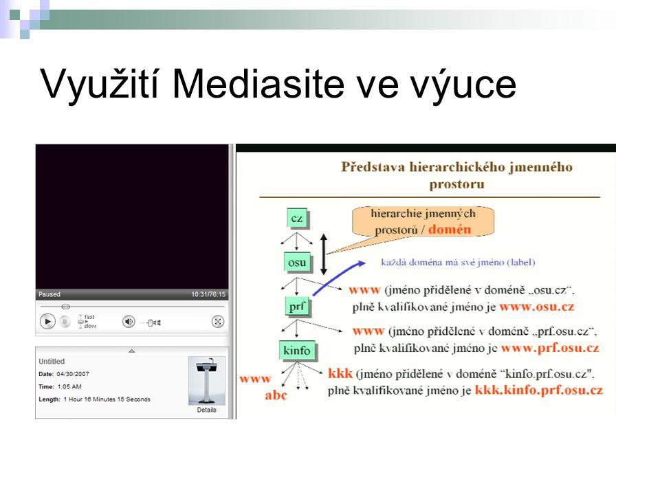 Využití Mediasite ve výuce