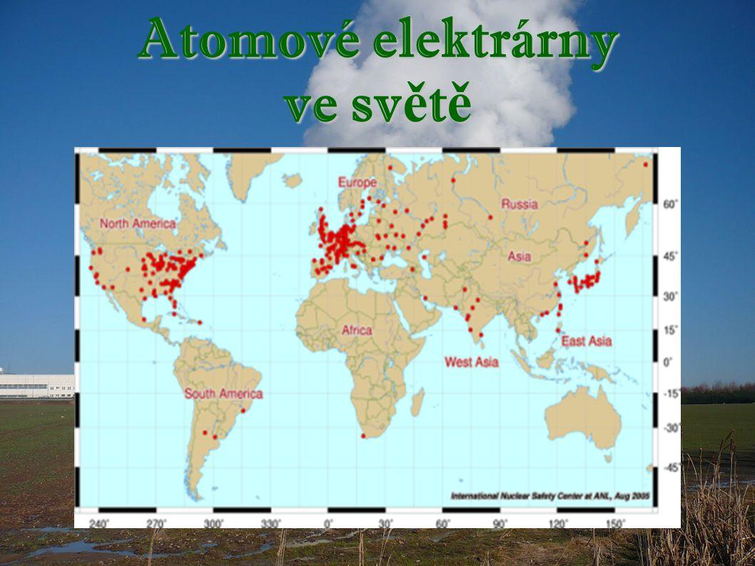 Atomové elektrárny ve světě