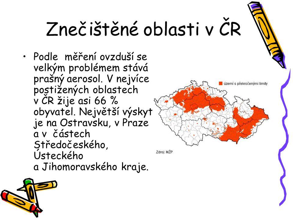 Znečištěné oblasti v ČR