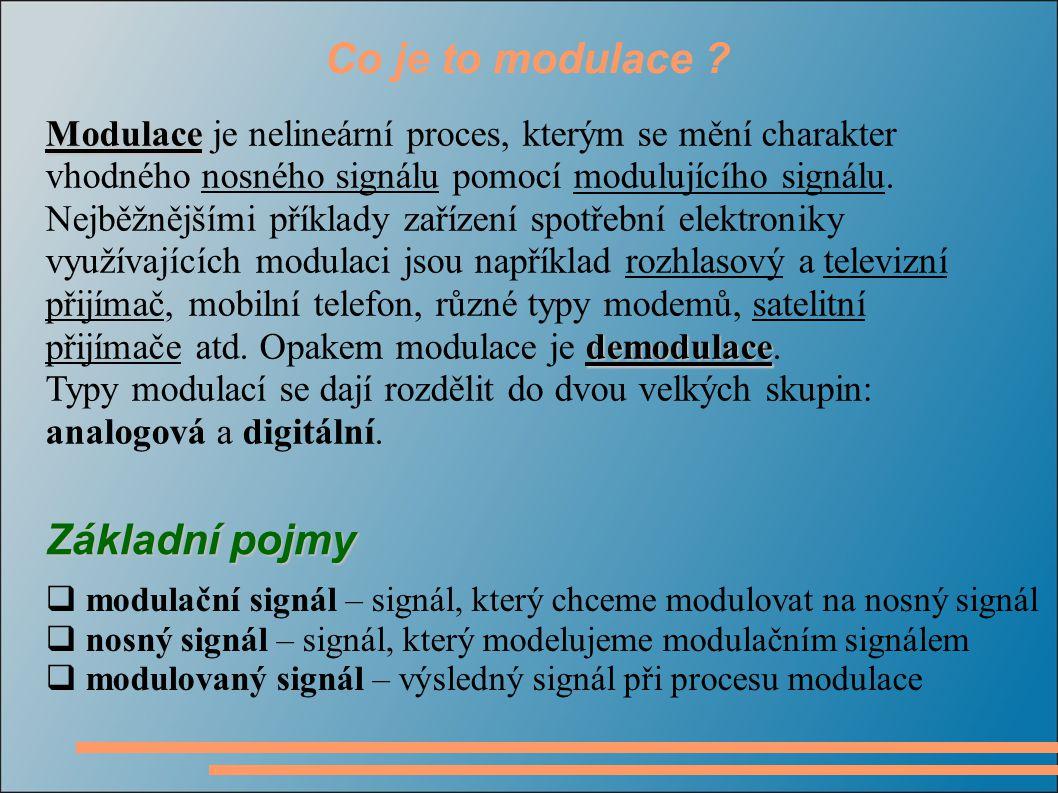 Co je to modulace Základní pojmy