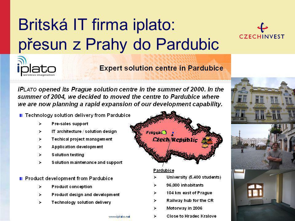 Britská IT firma iplato: přesun z Prahy do Pardubic