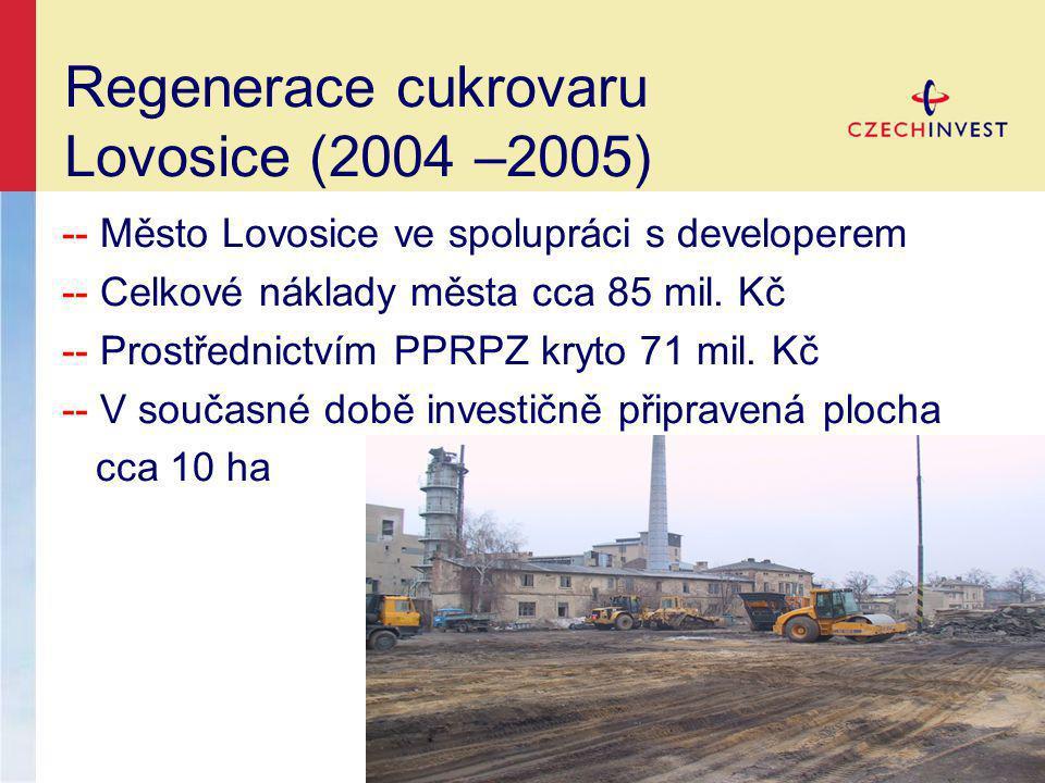 Regenerace cukrovaru Lovosice (2004 –2005)
