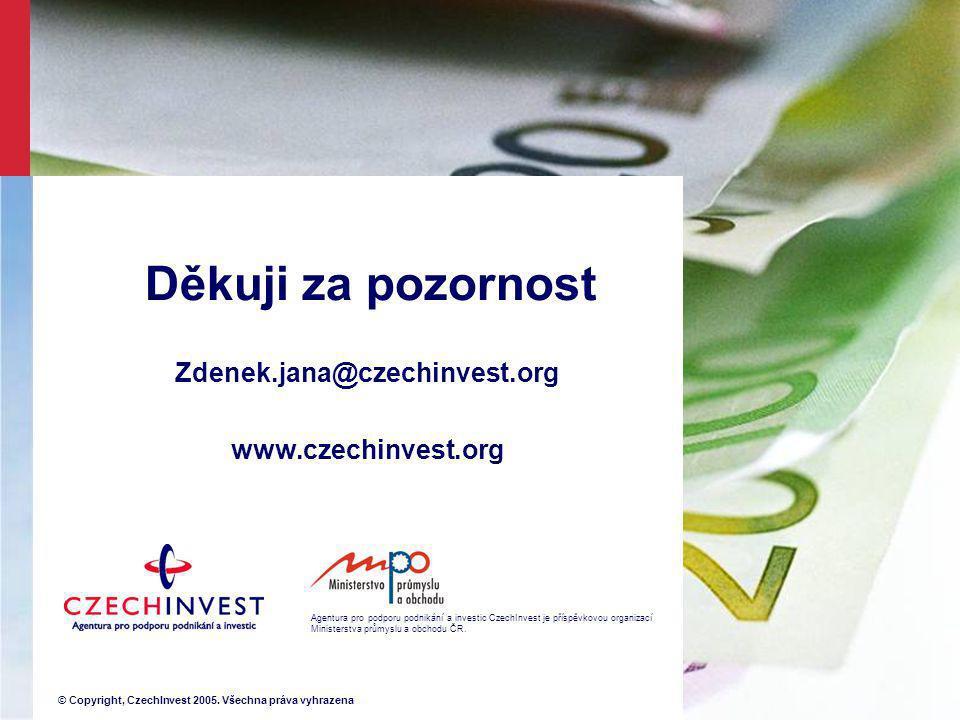 Děkuji za pozornost Zdenek.jana@czechinvest.org www.czechinvest.org