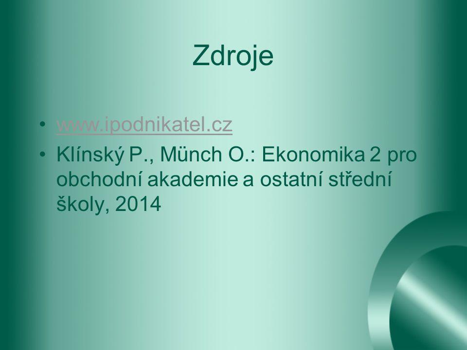 Zdroje www.ipodnikatel.cz