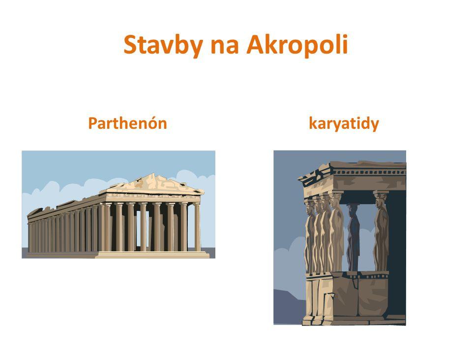 Stavby na Akropoli Parthenón karyatidy