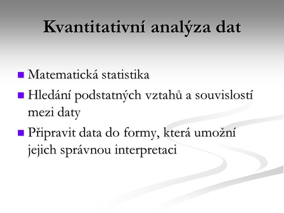 Kvantitativní analýza dat