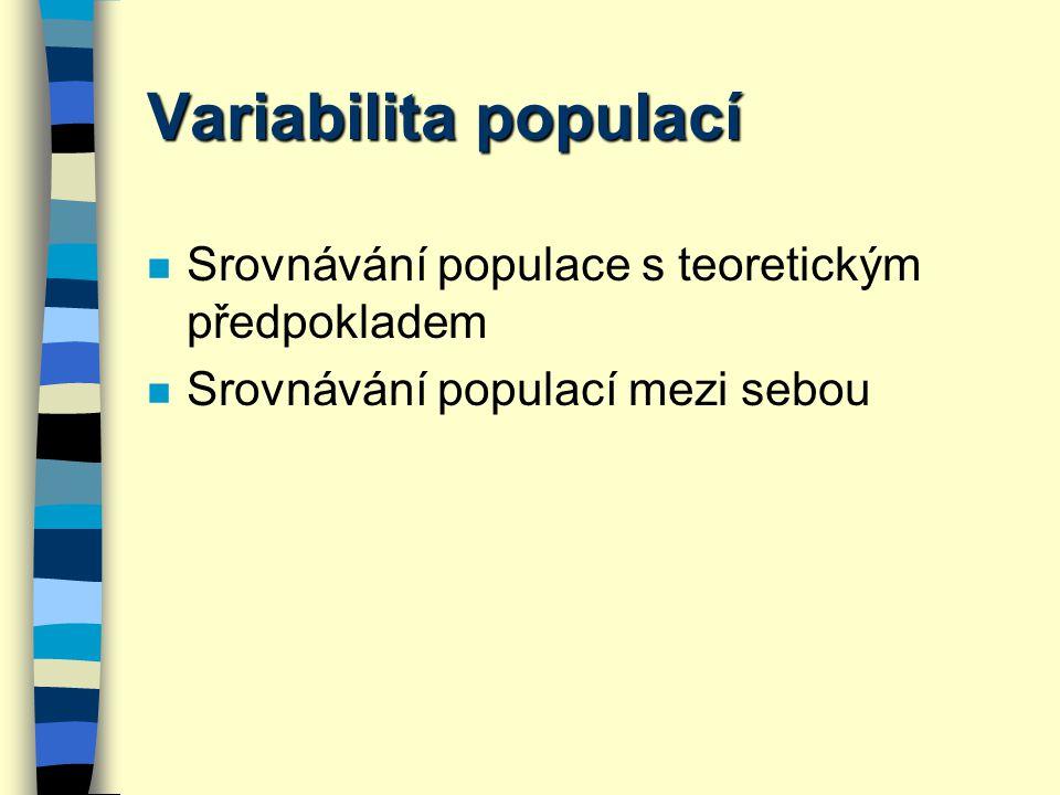 Variabilita populací Srovnávání populace s teoretickým předpokladem
