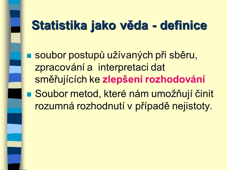Statistika jako věda - definice